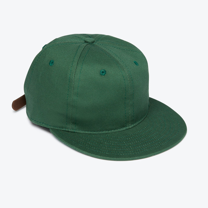 Unlettered Cotton Ballcap - Forest Green