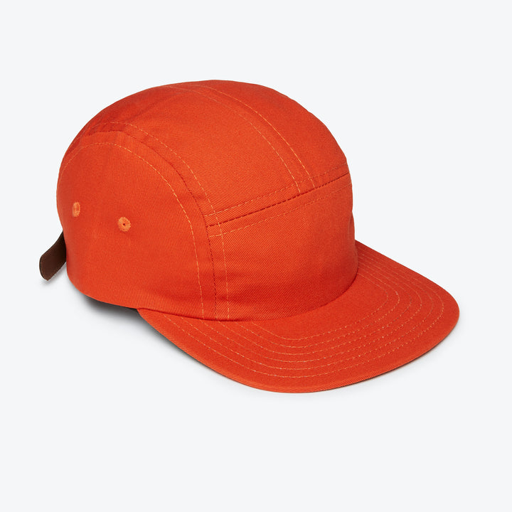 5 Panel Cotton Cap - Orange