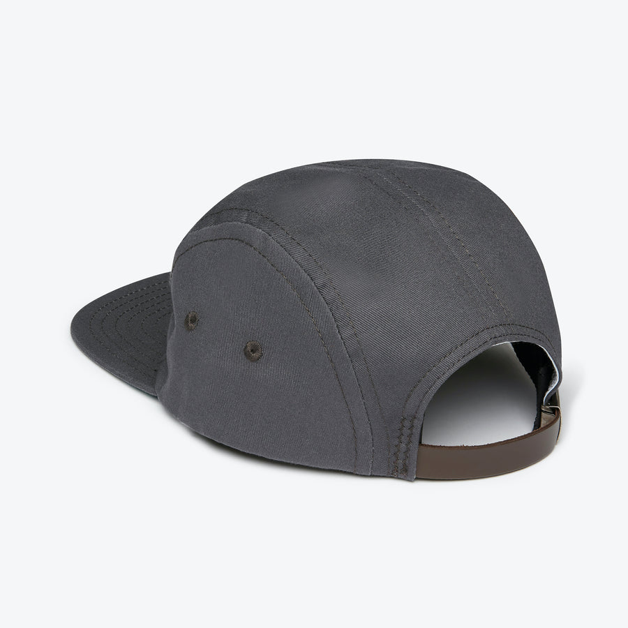5 Panel Cotton Cap - Charcoal