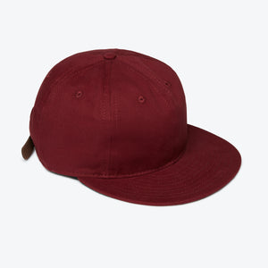 Unlettered Cotton Ballcap - Burgundy