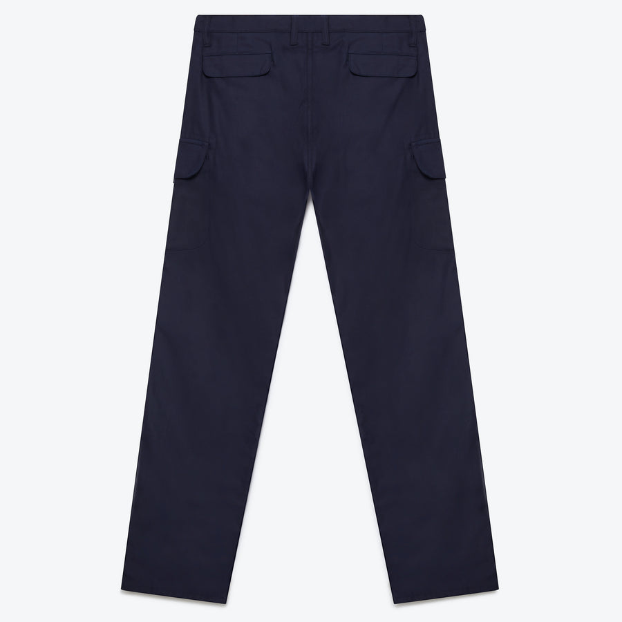 Cargo Pant - Navy Back Satin