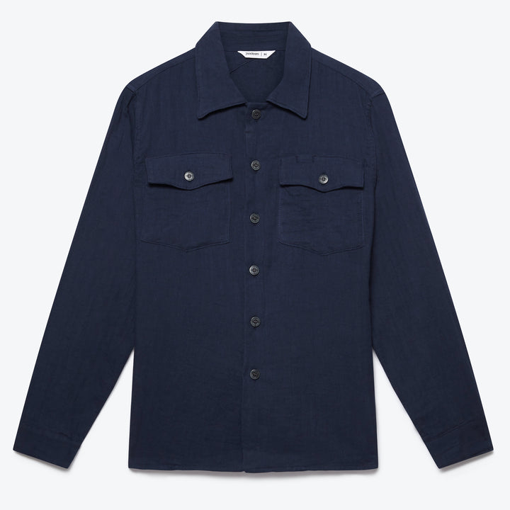 Fatigue Overshirt - Navy Gauze