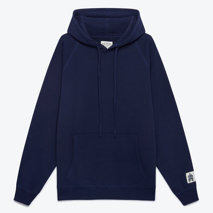 Hooded Raglan Pullover - Midnight