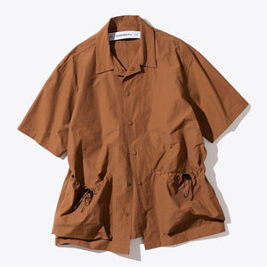 Two Pocket Short Shirt - Orange