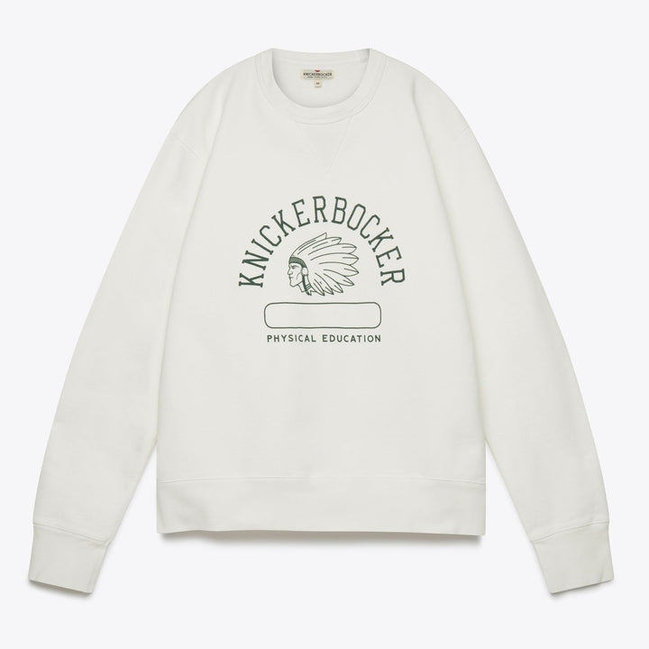Phys. Ed Crew Neck Fleece - Milk