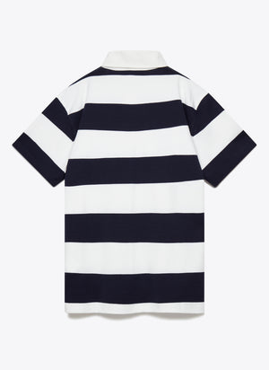 77329 Striped Rugby Shirt - Navy / White