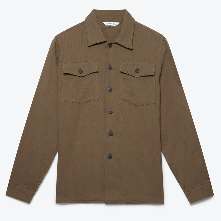 Fatigue Overshirt - Olive Gauze