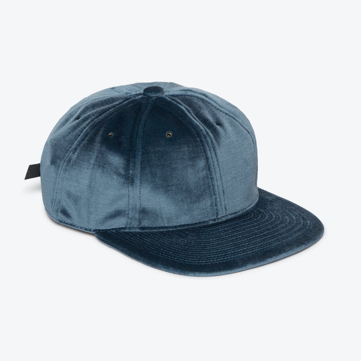 Poten Velour Cap - Blue - The Great Divide