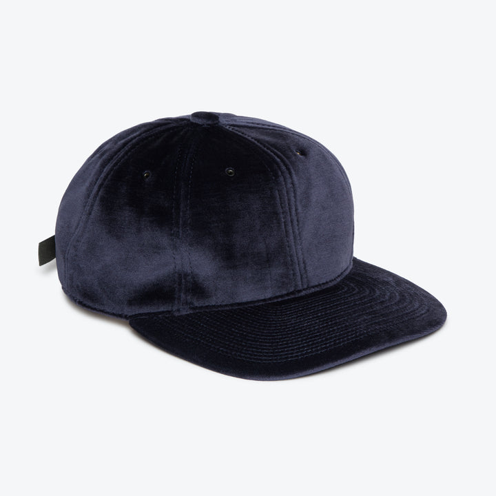 Poten Velour Cap - Navy - The Great Divide