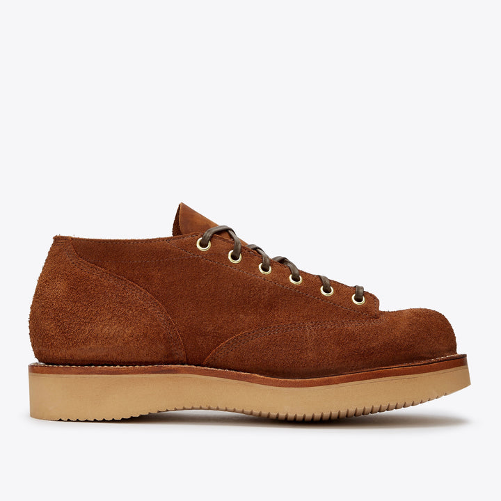 Viberg 245 Oxford - Aged Bark Roughout - The Great Divide