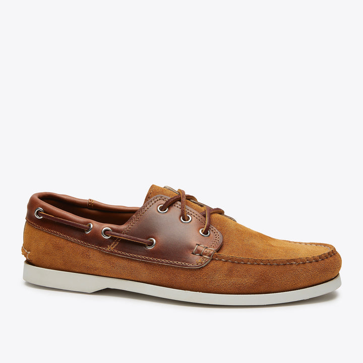 Quoddy Classic Boat Shoe - HH Toast Suede & Cavalier Whiskey
