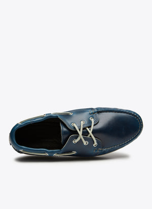Quoddy Classic Boat Shoe - Cavalier Navy - The Great Divide