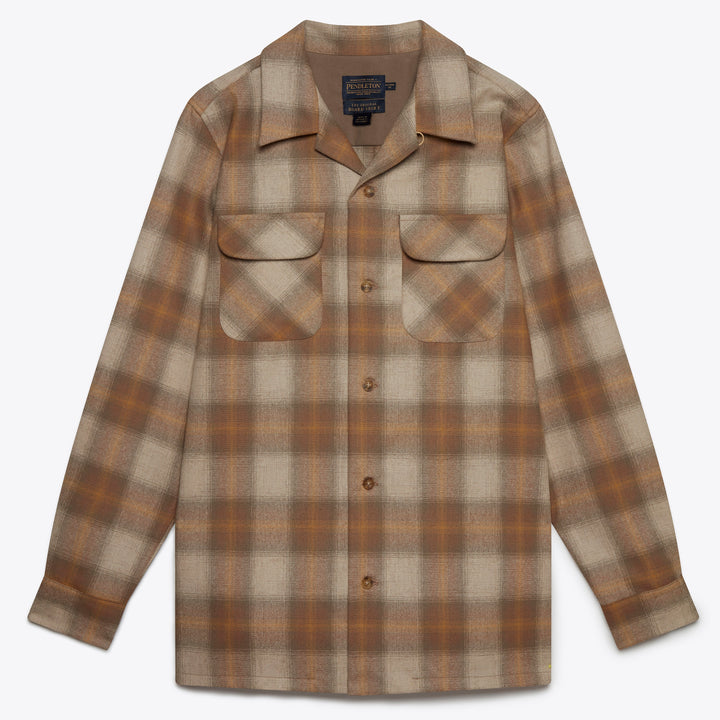 Board Shirt - Tan/Gold Plaid