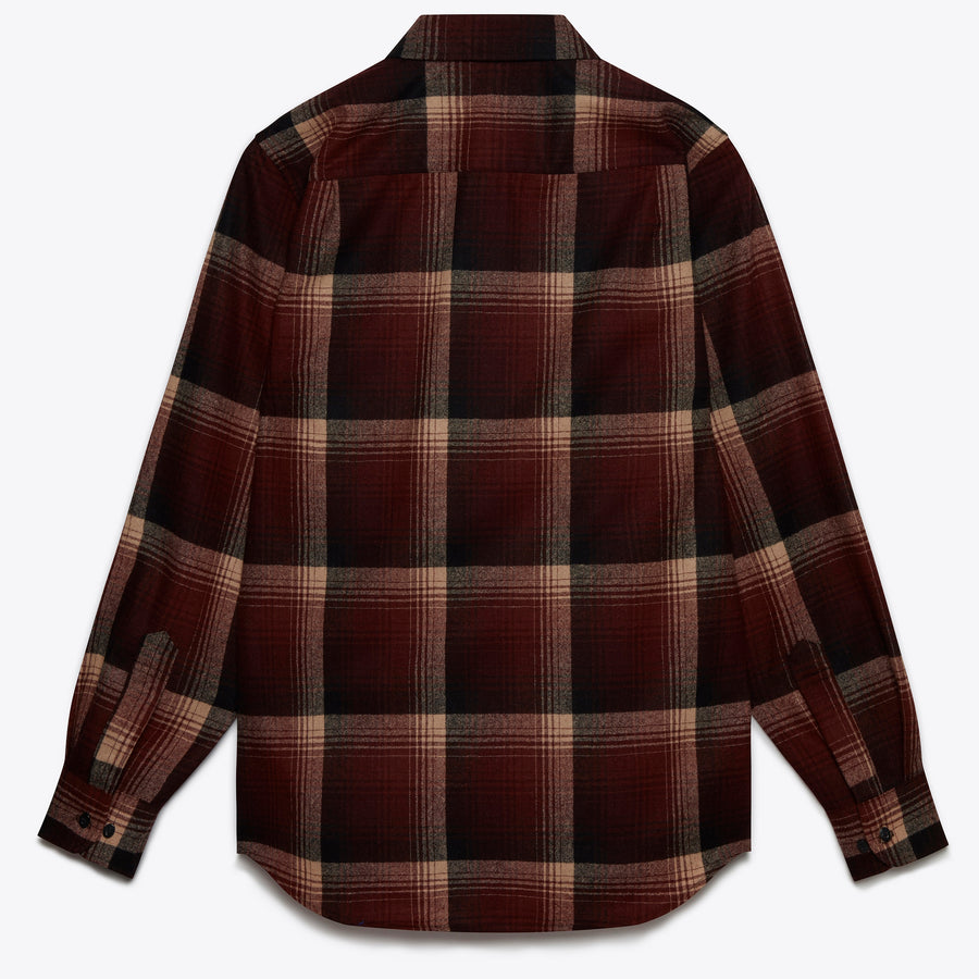 Lodge Shirt - Maroon Ombre
