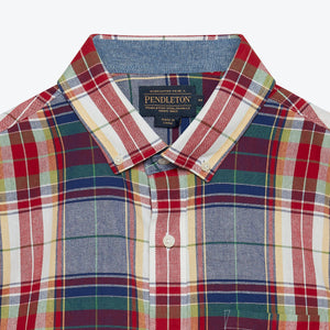 SS Madras Shirt - Blue/Red Multi Plaid