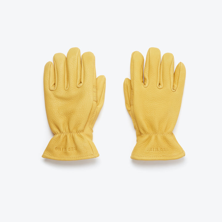 Buckskin Leather Lined Gloves - Yellow