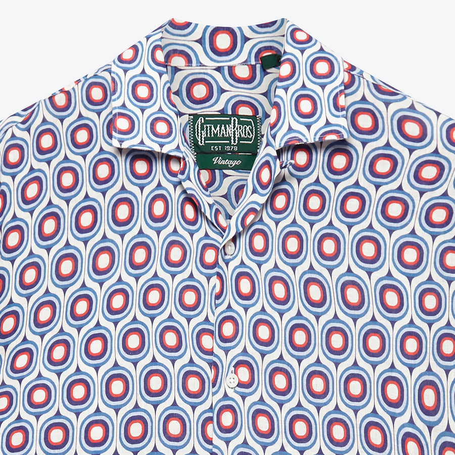 Gio Ponti Deco Linen Camp Shirt