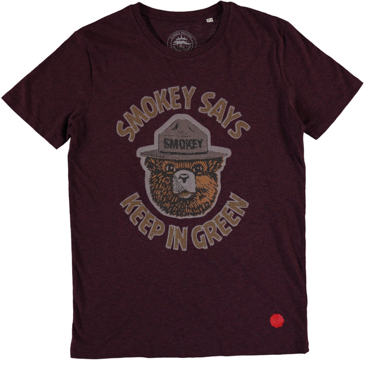 Smokey Tee - Dark Heather Burgundy