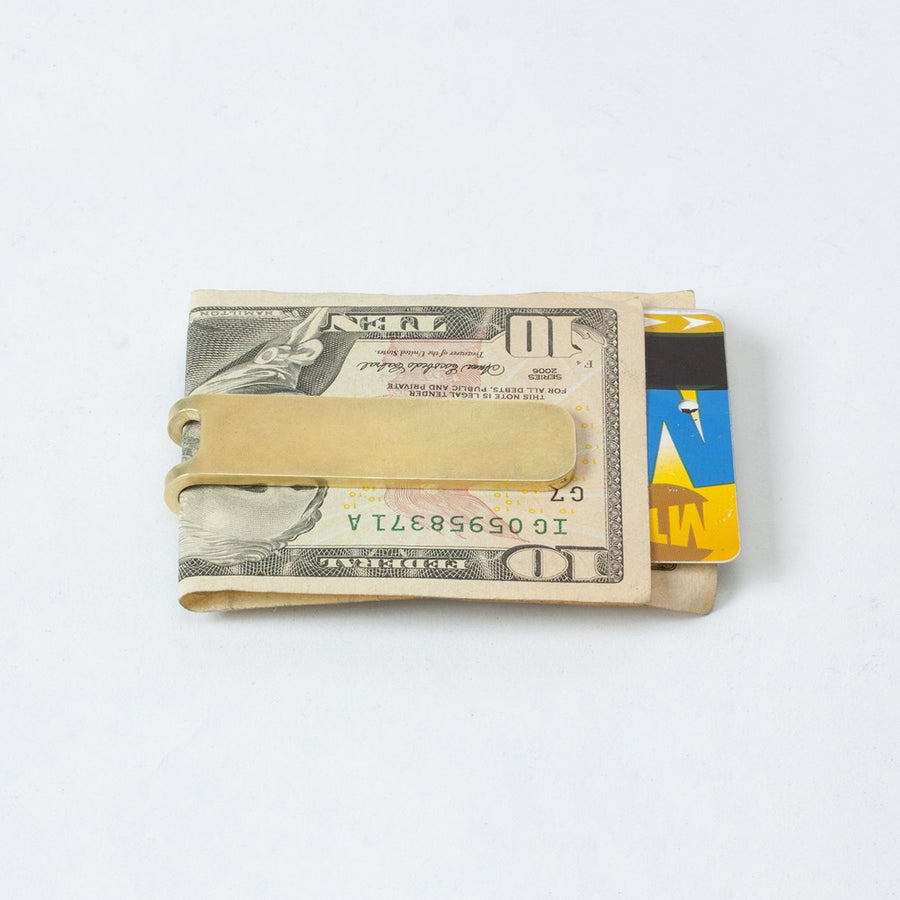 Craighill Square Money Clip - Brass - The Great Divide