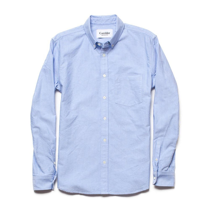Corridor Classic Oxford Shirt - Blue - The Great Divide