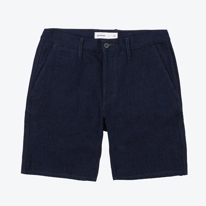 Drawstring Short - Indigo/Indigo 5x5 Denim