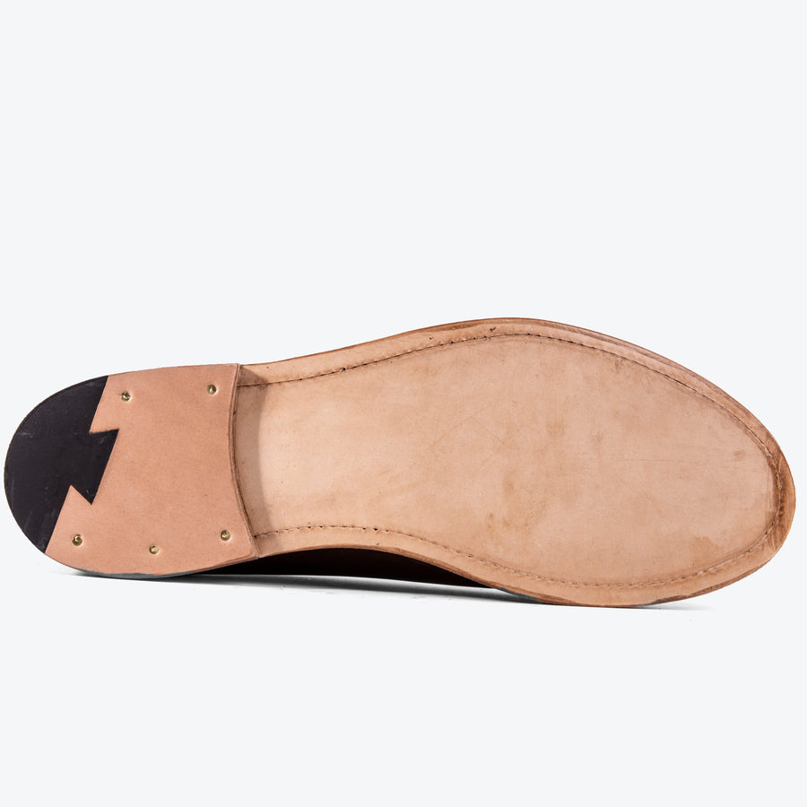 Viberg Slipper - Camel Oiled Calf - The Great Divide