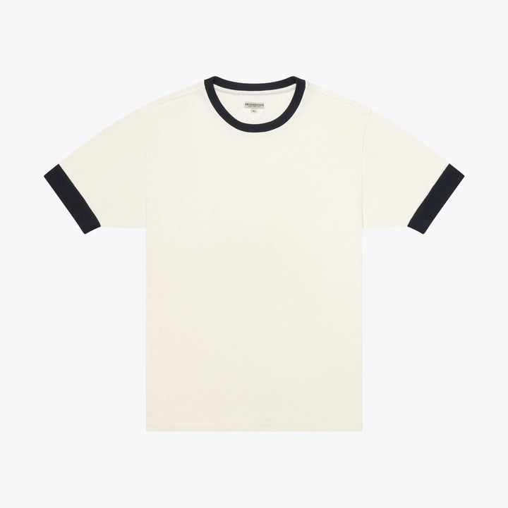 The Color Block T-Shirt - White/Navy