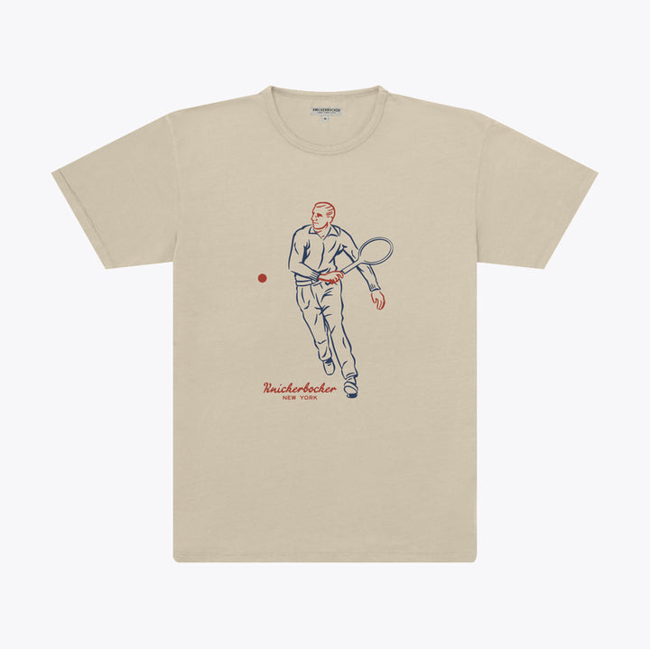 The Pigment Tennis T-Shirt - Stone