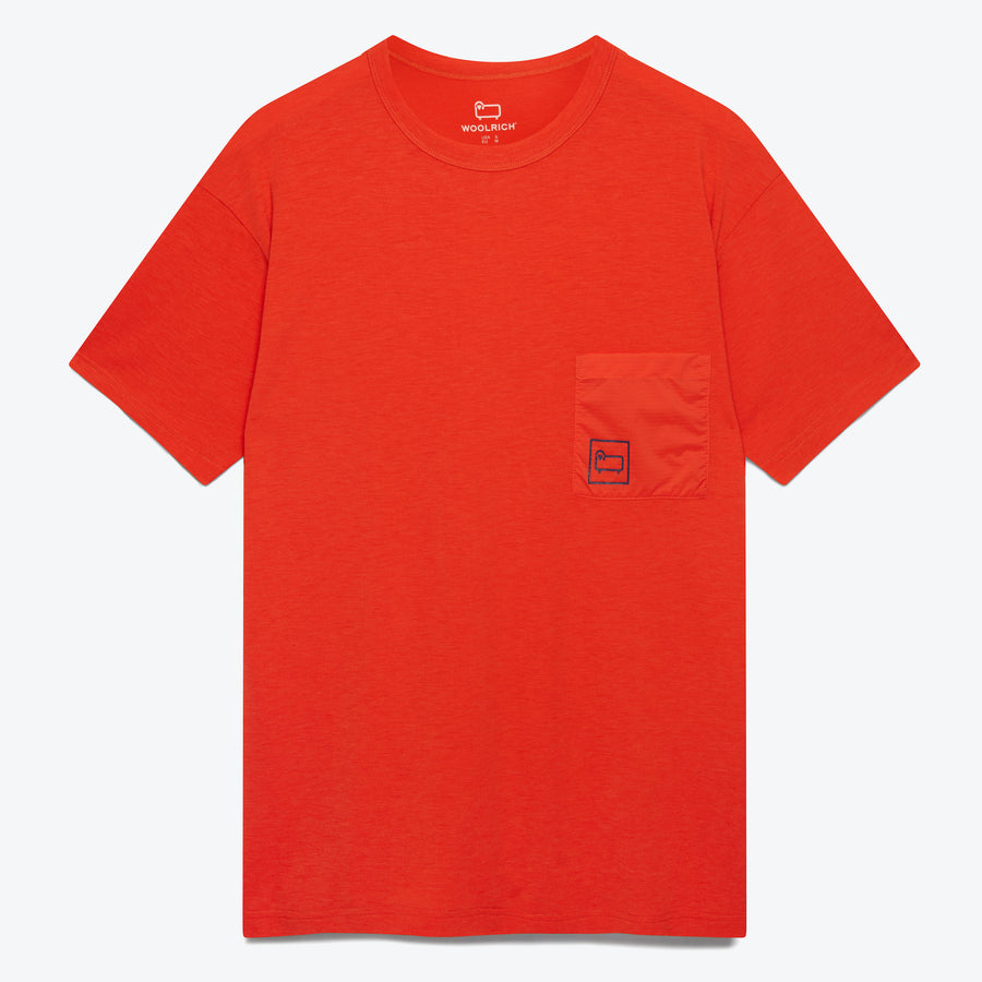 High Stretch Merino Tee - Orange