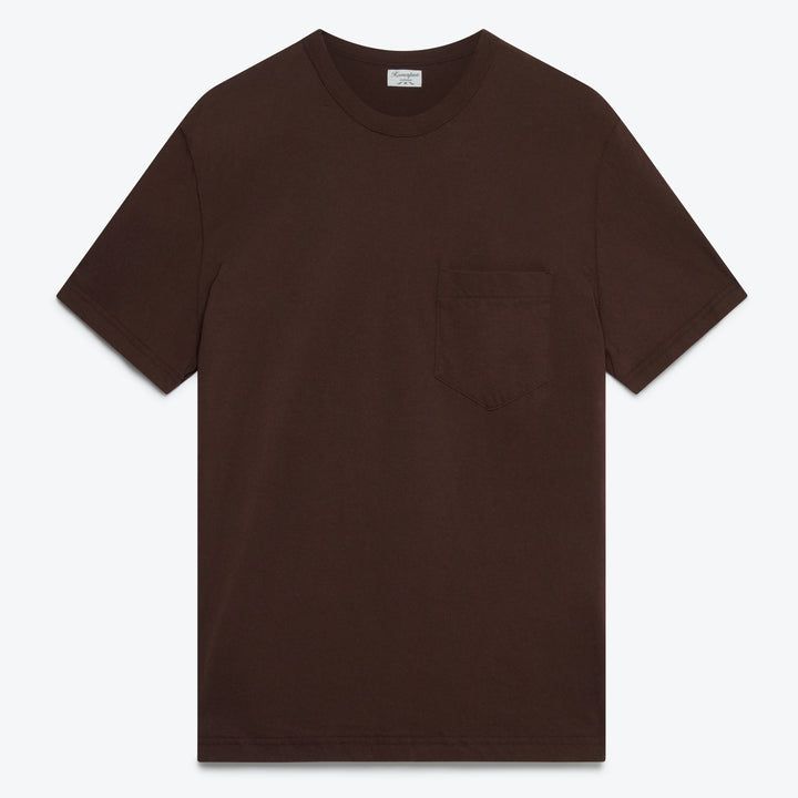Homespun Knitwear Dad's Pocket Tee - Coffee Bean - The Great Divide
