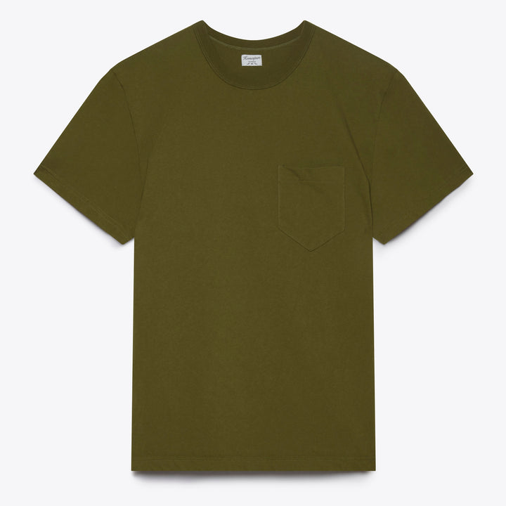 Homespun Knitwear Dad's Pocket Tee - Olive - The Great Divide