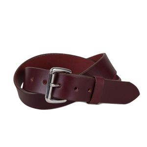 Standard Belt - Oxblood / Steel