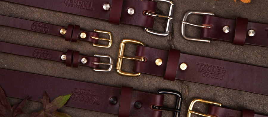 Classic Belt - Oxblood / Steel