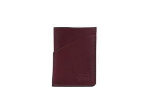 Minimal Card Wallet - Oxblood