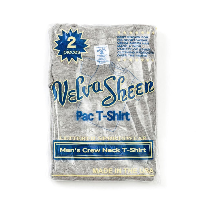 Velva Sheen Two Pack T-Shirts - White/Heather Grey - The Great Divide