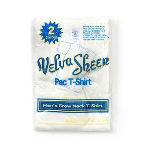 Velva Sheen Two Pack T-Shirts - White / Oatmeal - The Great Divide
