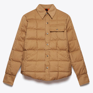 Down Shirt - Tan / Rust