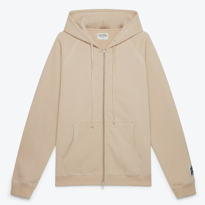 Peck & Snyder Full Zip Raglan Hoodie - Sand - The Great Divide