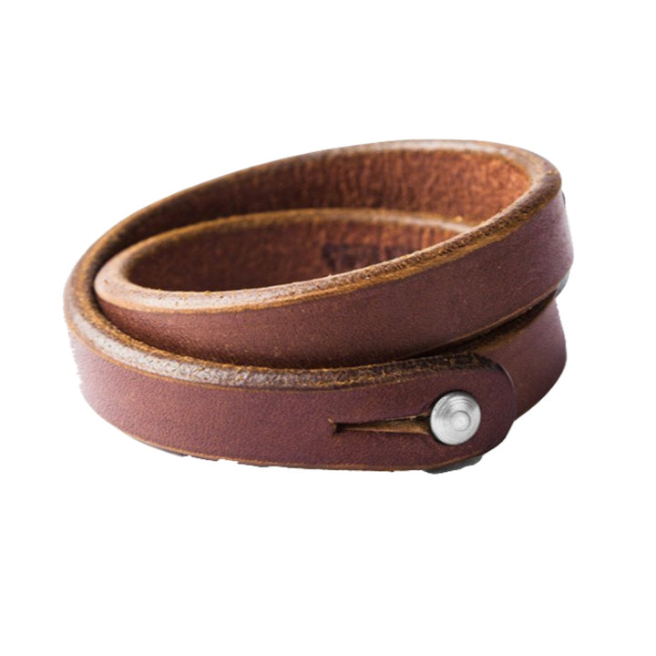 Double Wrap Wristband - Cognac