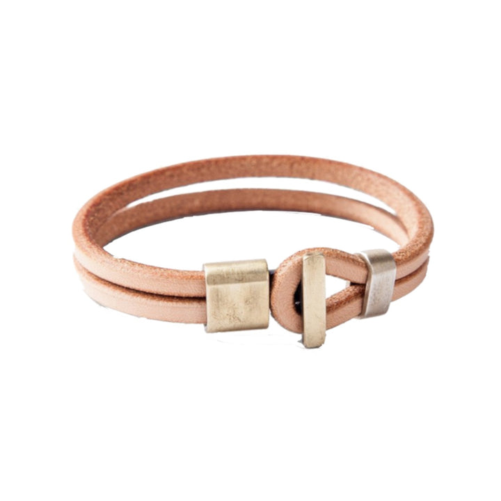 Brass Premium Wristband - Natural
