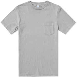 Velva Sheen Pigment Dyed Pocket Tee - Grey - The Great Divide