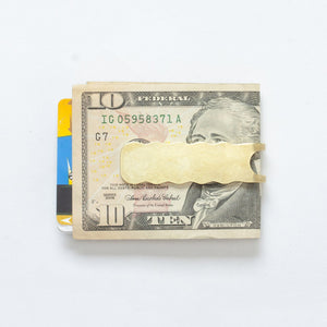 Wave Money Clip - Brass