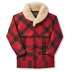 Wool Packer Coat - Red / Black Plaid