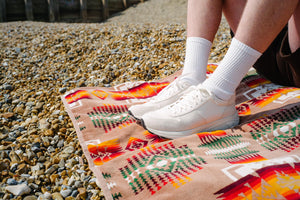 Viberg Sneaker - White Nappa Horsehide - The Great Divide