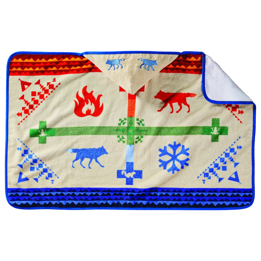 Pendleton Hooded Baby Towel - Coyote Steals The Fire
