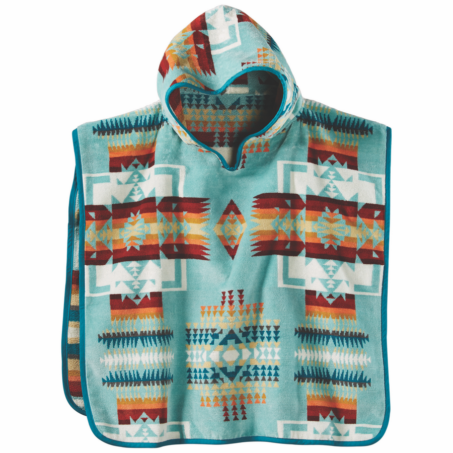 Pendleton Chief Joseph Hooded Baby Towel - Aqua - The Great Divide