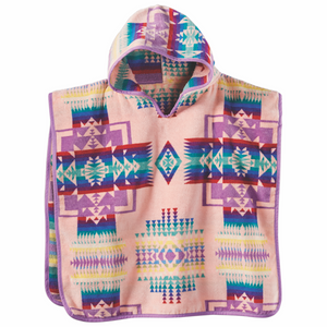 Pendleton Chief Joseph Hooded Baby Towel - Pink - The Great Divide