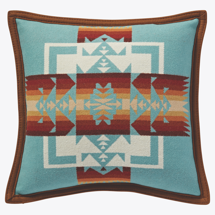 Pendleton Chief Joseph Pillow - Aqua - The Great Divide