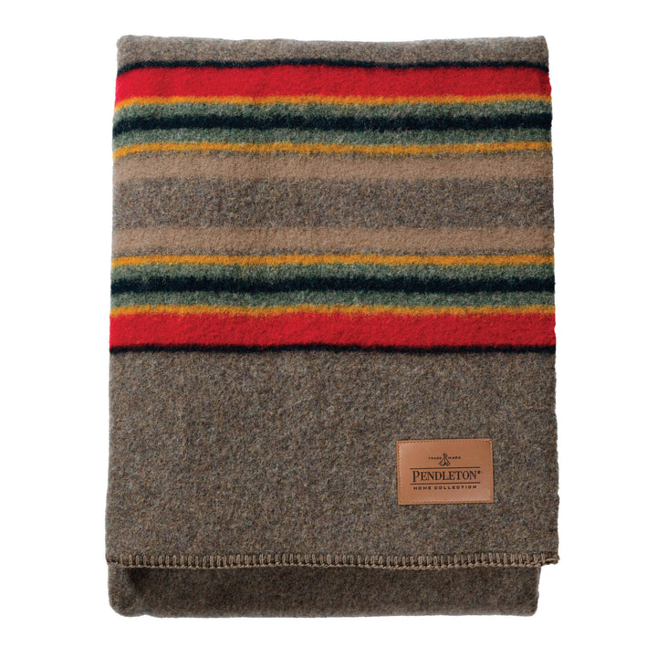 Pendleton Camp Blanket - Mineral Umber - The Great Divide