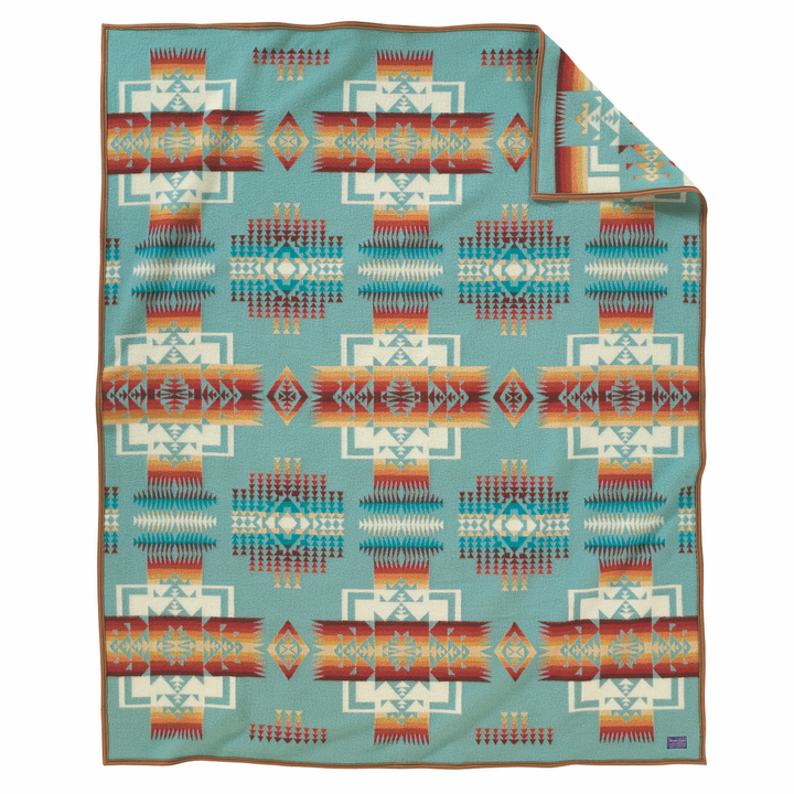 Pendleton Chief Joseph Blanket - Aqua - The Great Divide